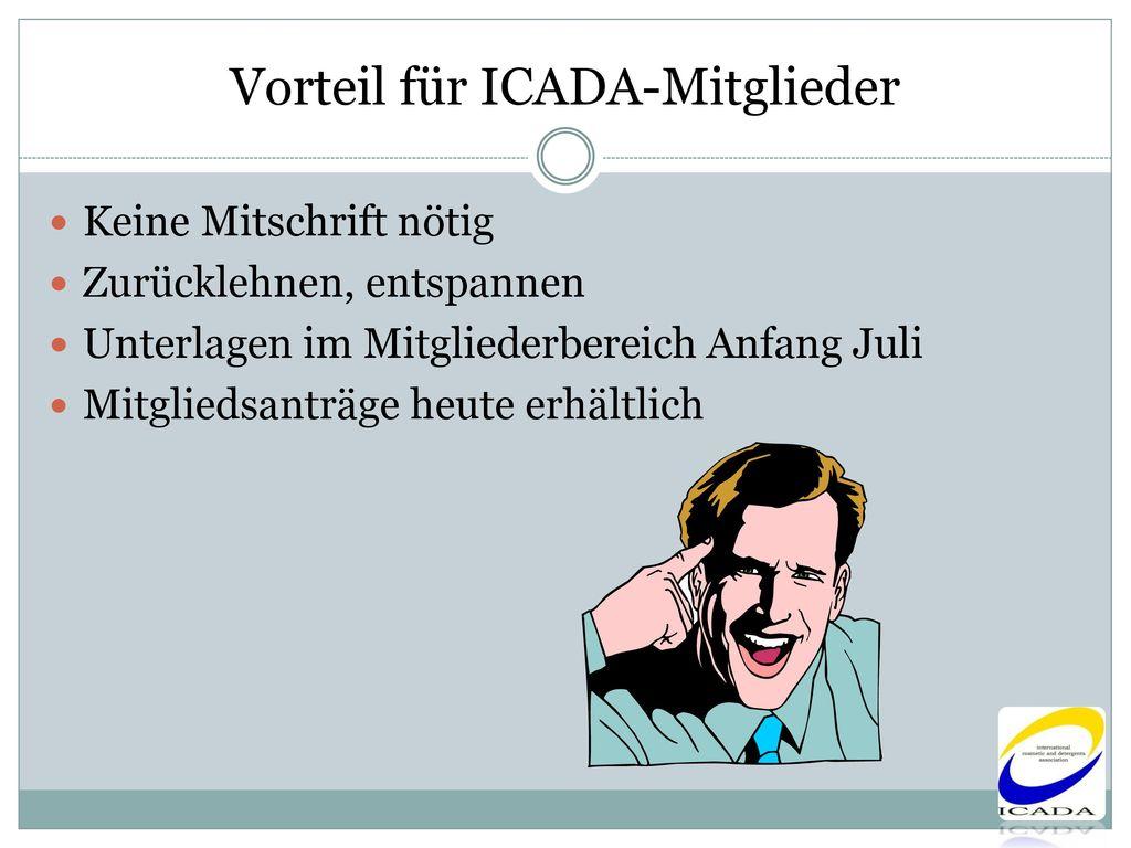 Vorteil für ICADA-Mitglieder