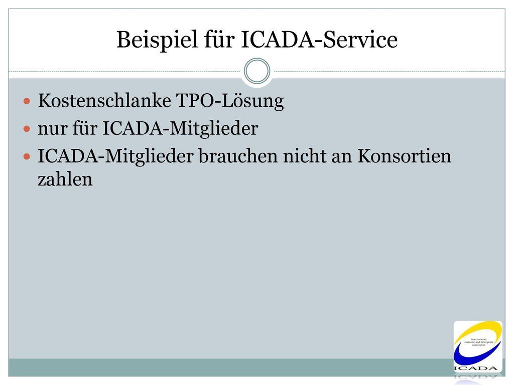 Beispiel für ICADA-Service