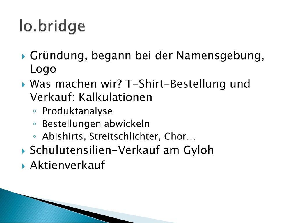 lo.bridge Gründung, begann bei der Namensgebung, Logo