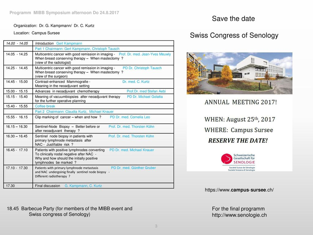 Swiss Congress of Senology