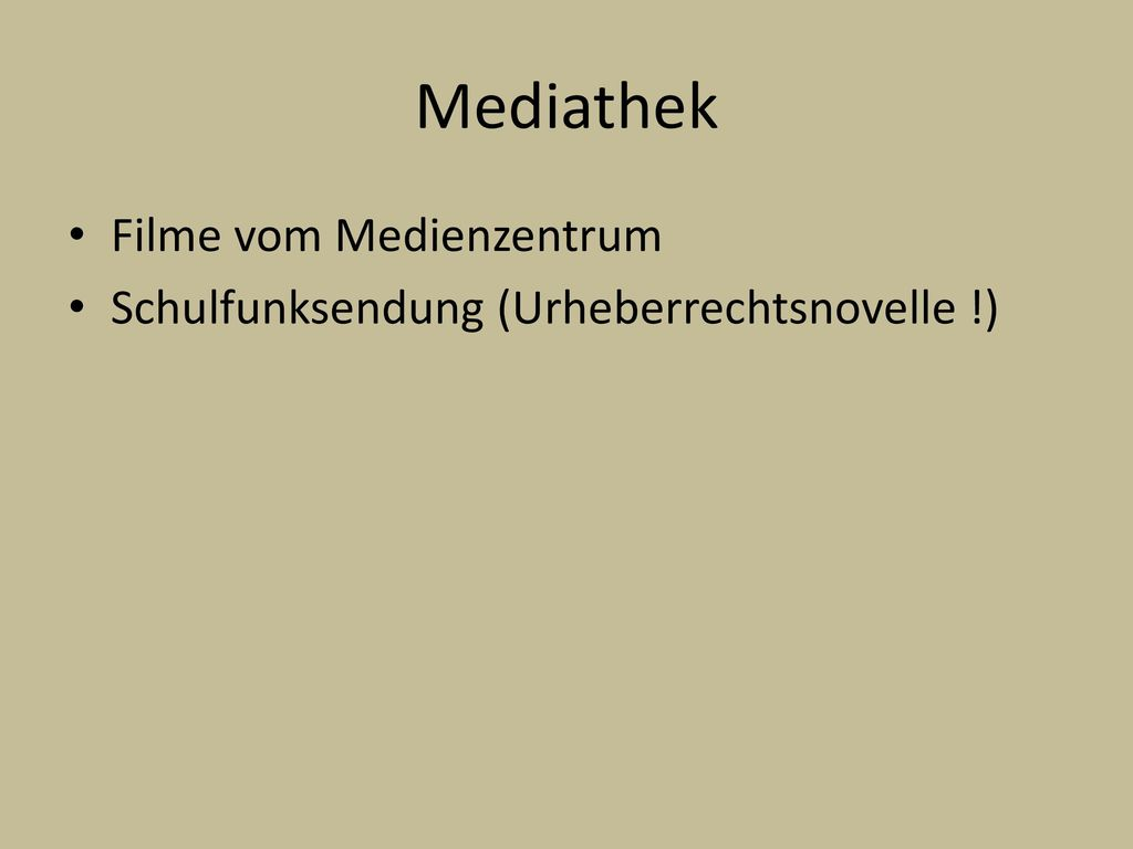Mediathek Filme vom Medienzentrum
