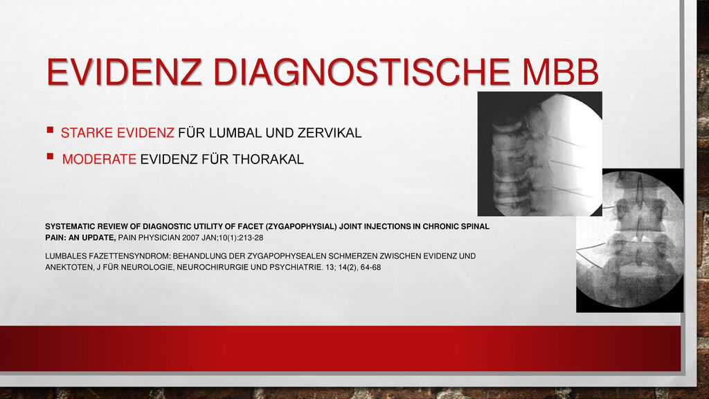 Evidenz Diagnostische MBB