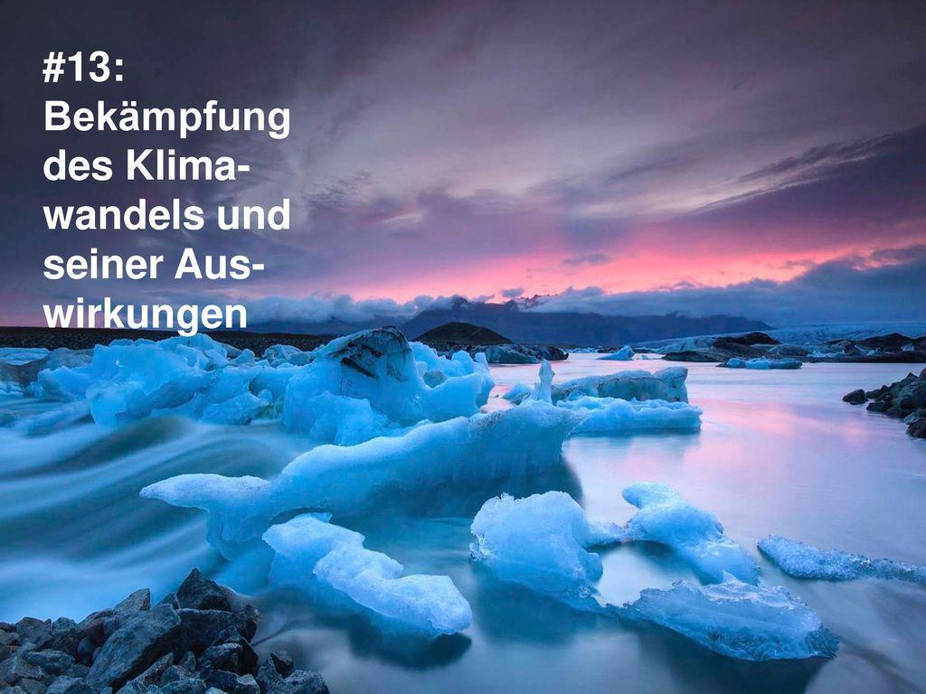 #13: Bekämpfung des Klima-wandels und seiner Aus-wirkungen