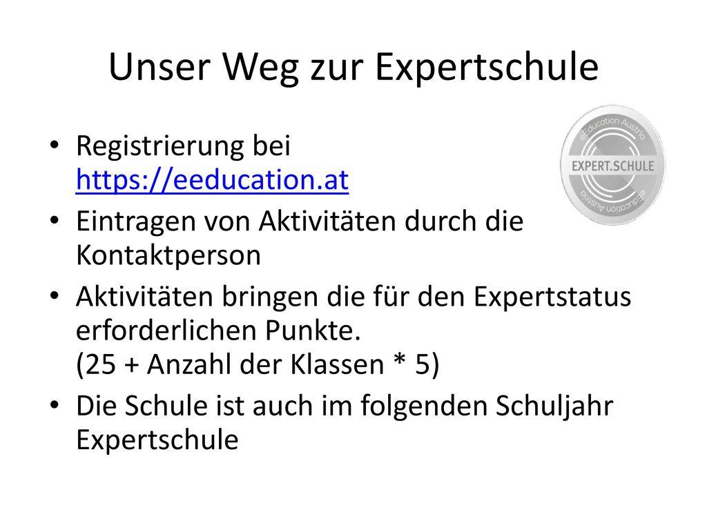 Unser Weg zur Expertschule