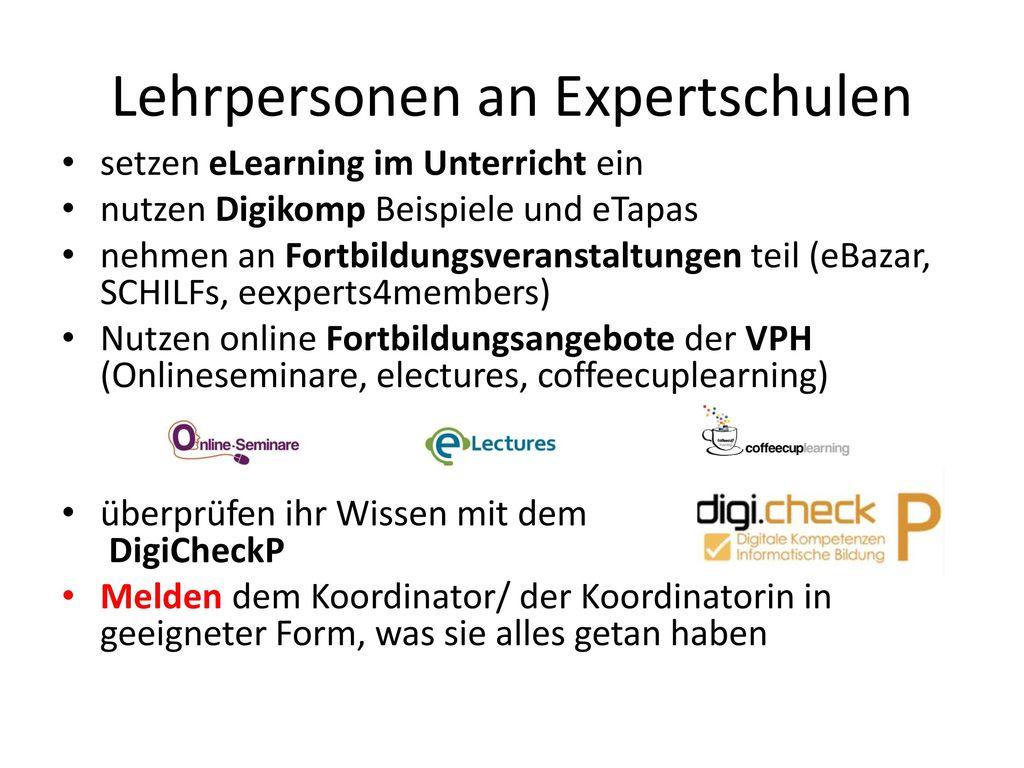 Lehrpersonen an Expertschulen