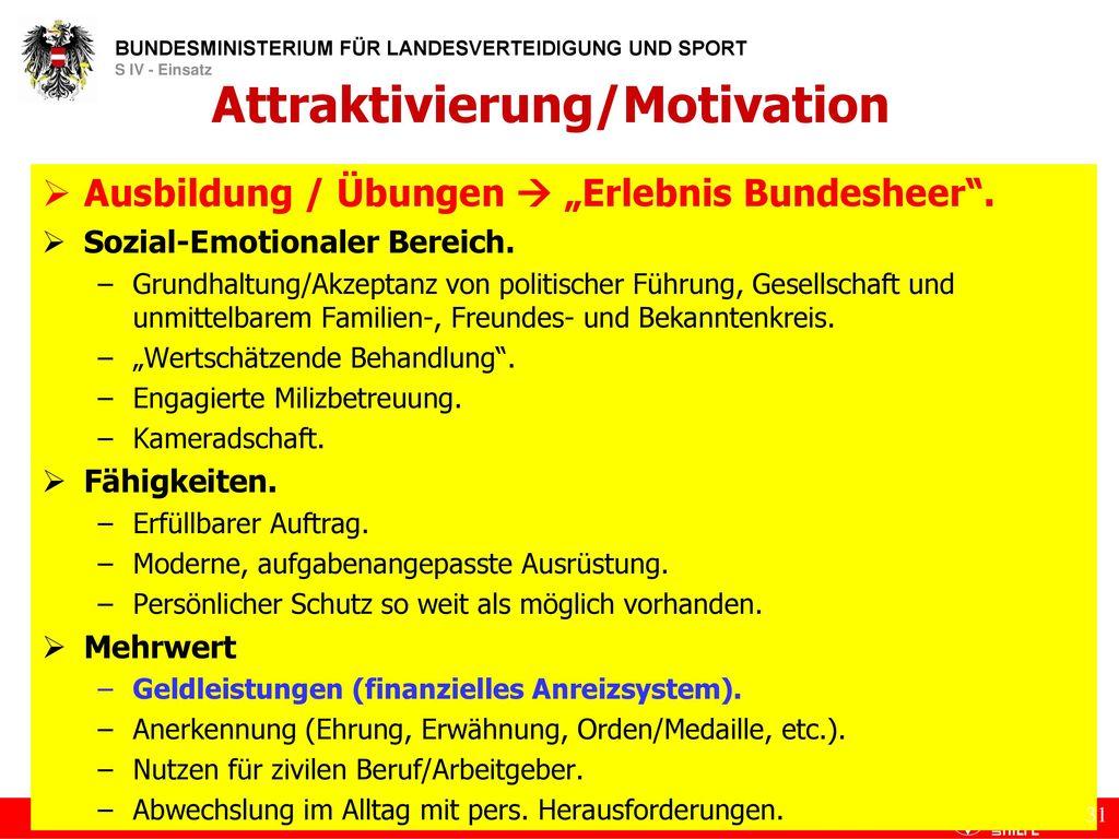 Attraktivierung/Motivation