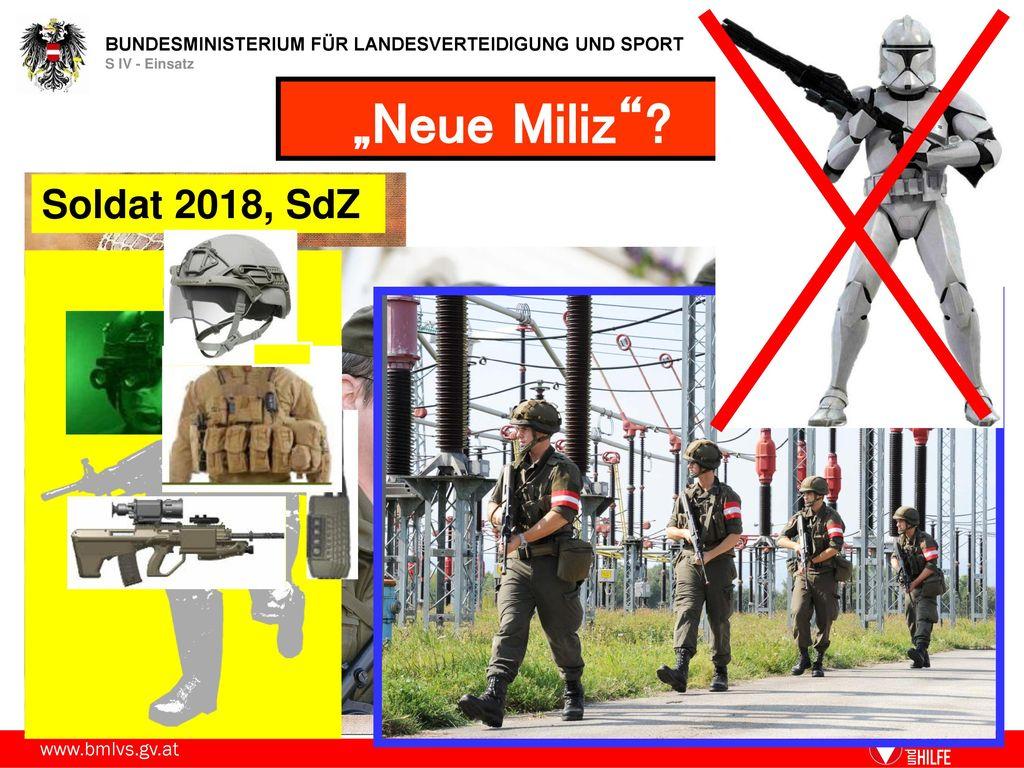 """""""Neue Miliz Soldat 2018, SdZ"""