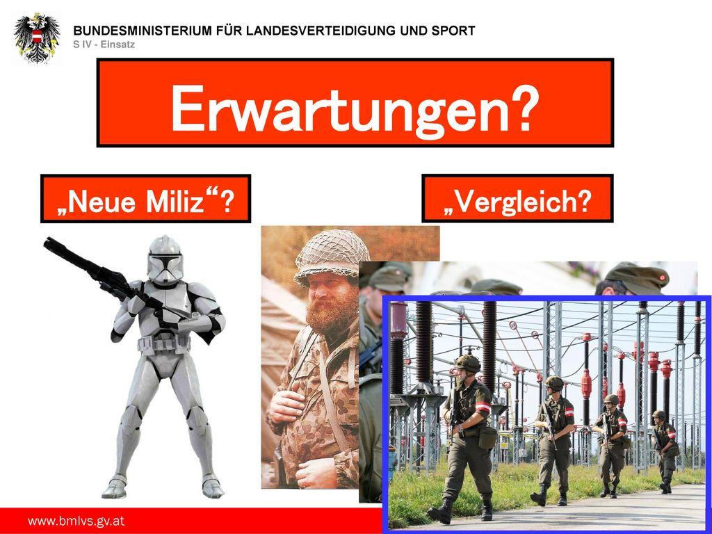 """Erwartungen """"Neue Miliz """"Vergleich"""