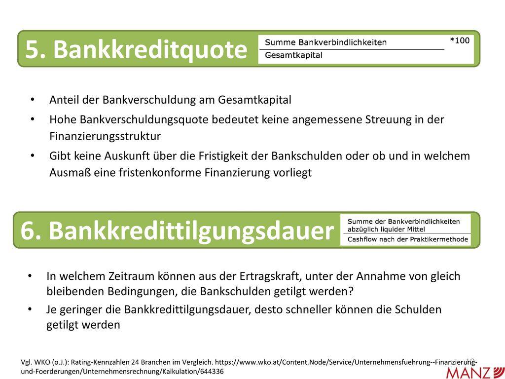 6. Bankkredittilgungsdauer