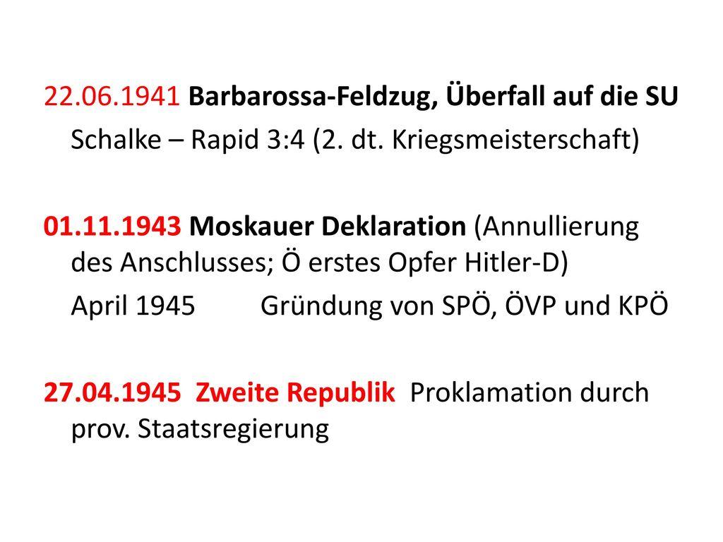 22.06.1941 Barbarossa-Feldzug, Überfall auf die SU