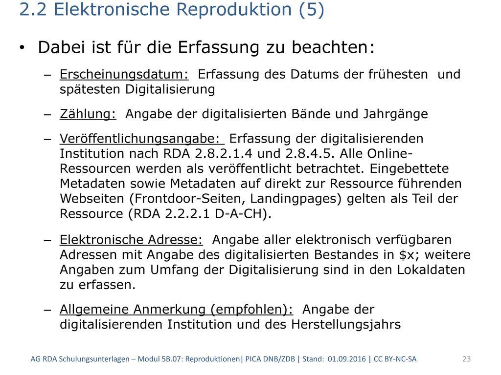 2.2 Elektronische Reproduktion (5)