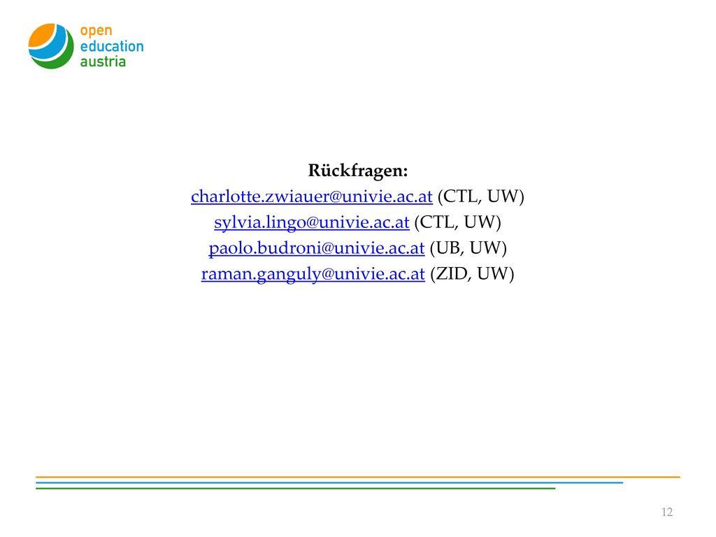 charlotte.zwiauer@univie.ac.at (CTL, UW)