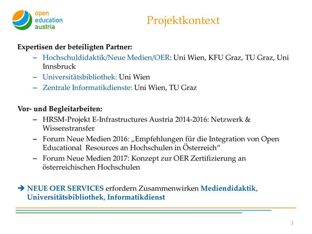 Projektkontext Expertisen der beteiligten Partner: