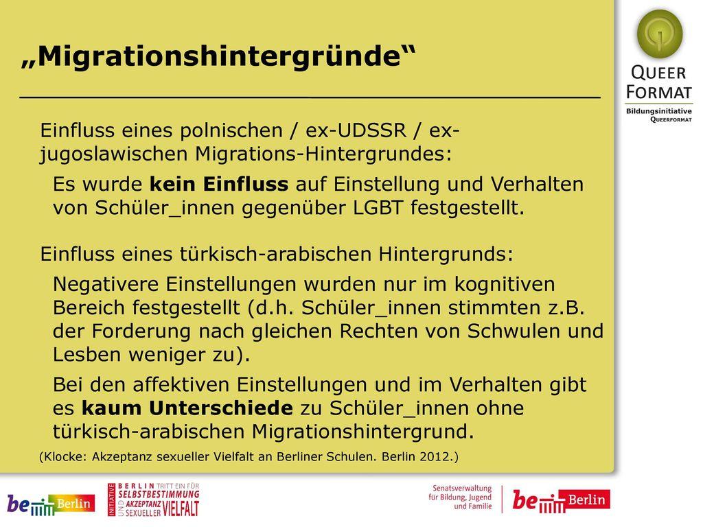 """""""Migrationshintergründe"""