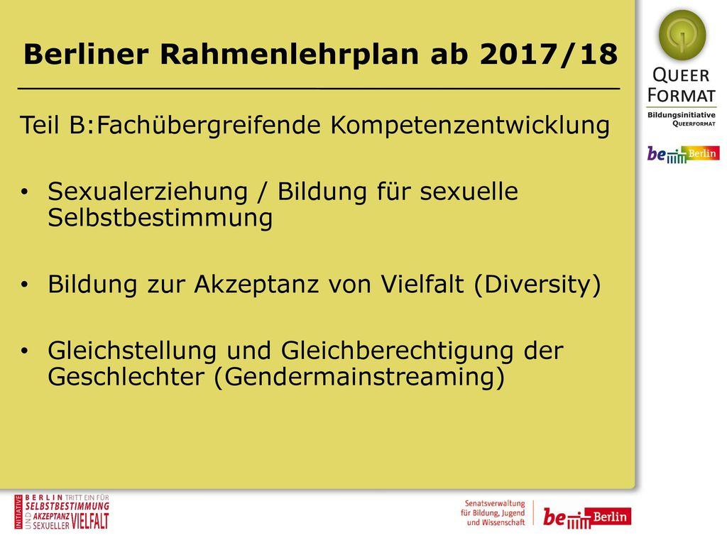 Berliner Rahmenlehrplan ab 2017/18