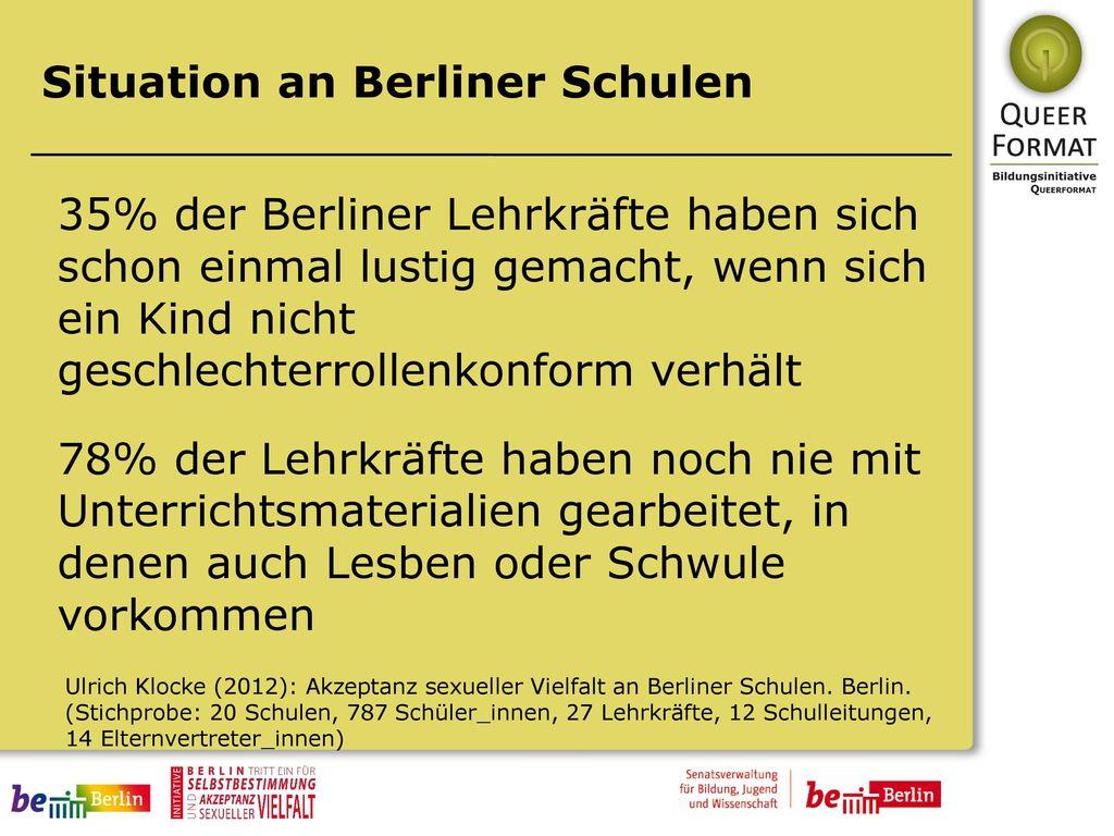 Situation an Berliner Schulen