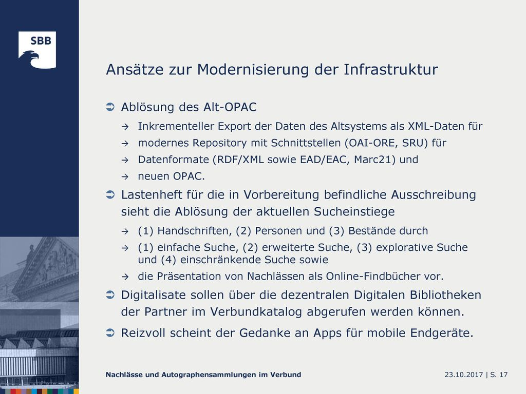 Ansätze zur Modernisierung der Infrastruktur