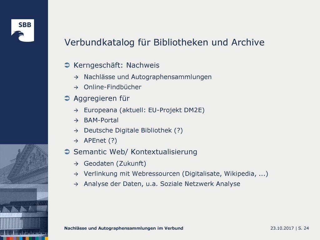 Verbundkatalog für Bibliotheken und Archive