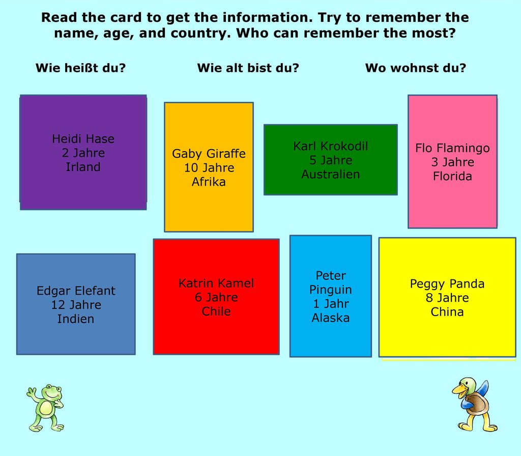 Read the card to get the information