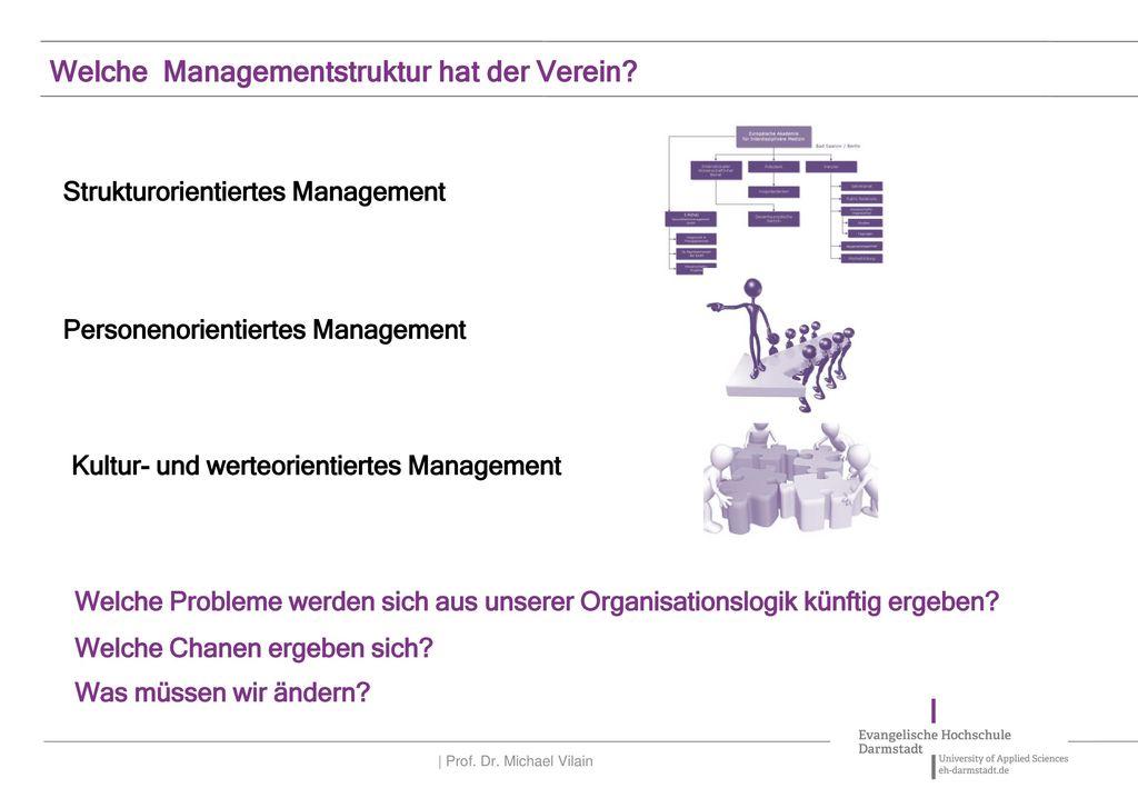 Welche Managementstruktur hat der Verein