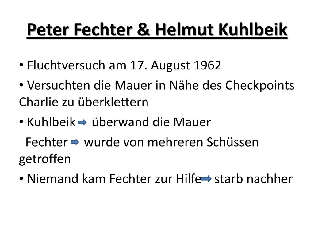 Peter Fechter & Helmut Kuhlbeik