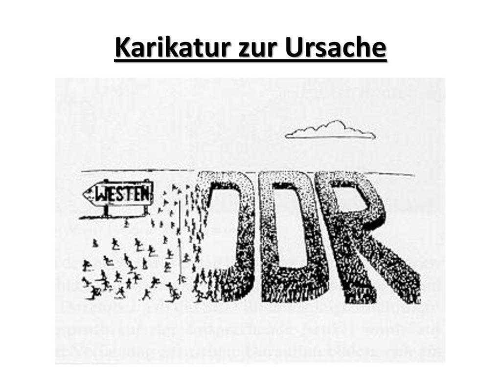 Karikatur zur Ursache