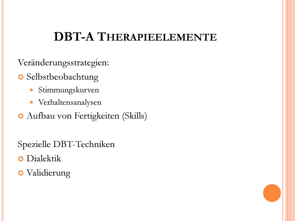 DBT-A Therapieelemente