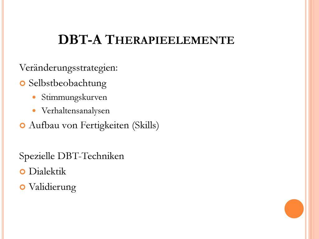 DBT-A Therapieelemente