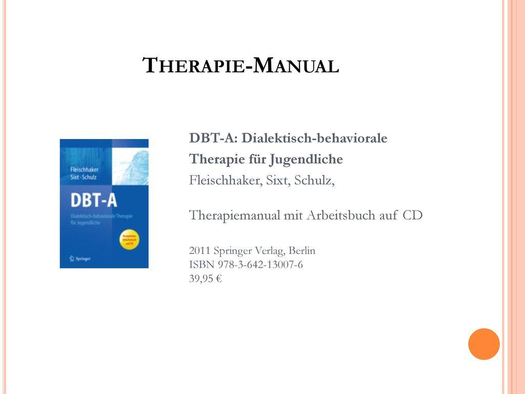 Therapie-Manual Therapie für Jugendliche