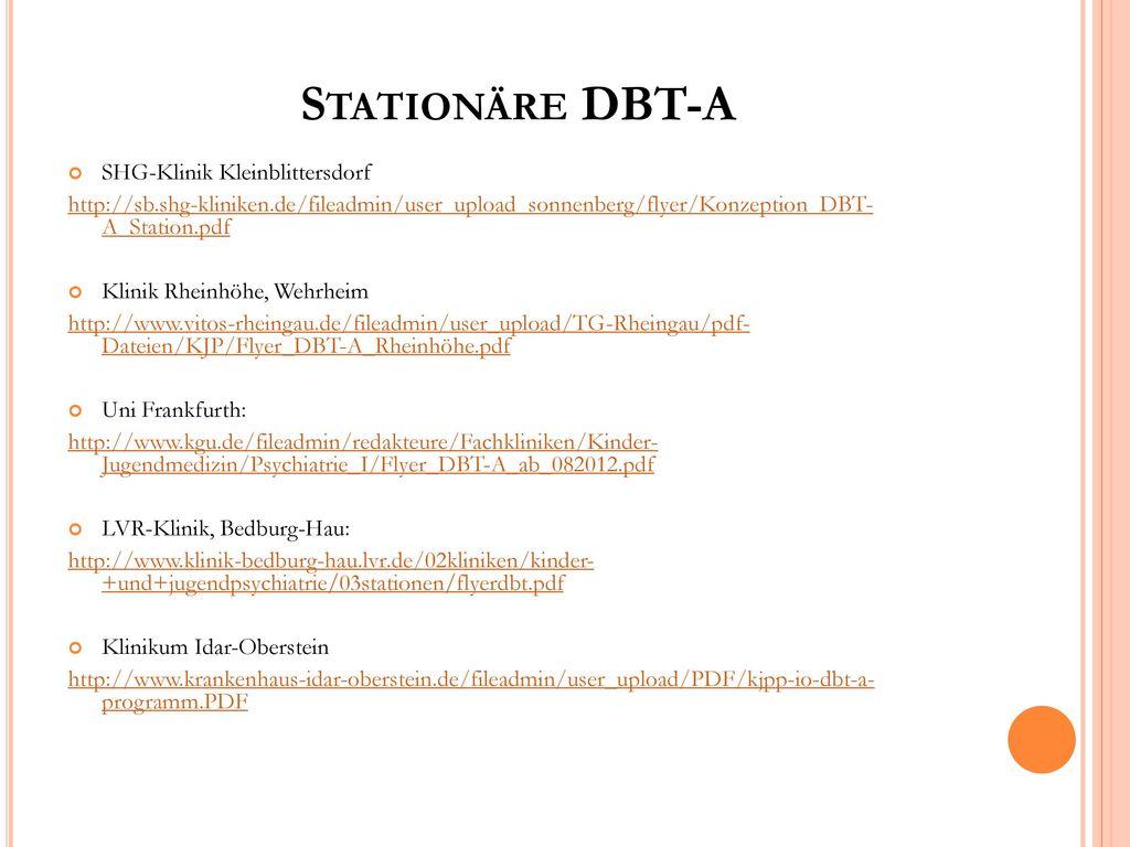 Stationäre DBT-A SHG-Klinik Kleinblittersdorf