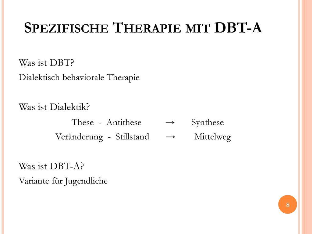 Spezifische Therapie mit DBT-A