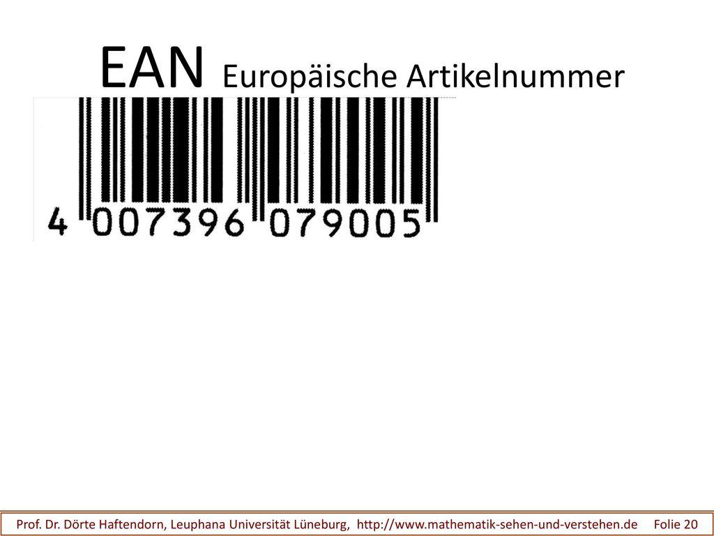 EAN Europäische Artikelnummer