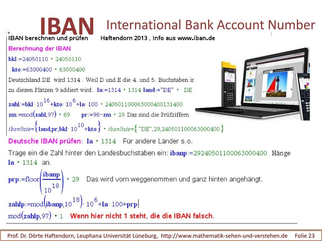 IBAN International Bank Account Number