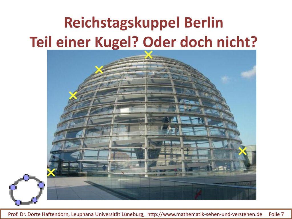 Reichstagskuppel Berlin Teil einer Kugel Oder doch nicht