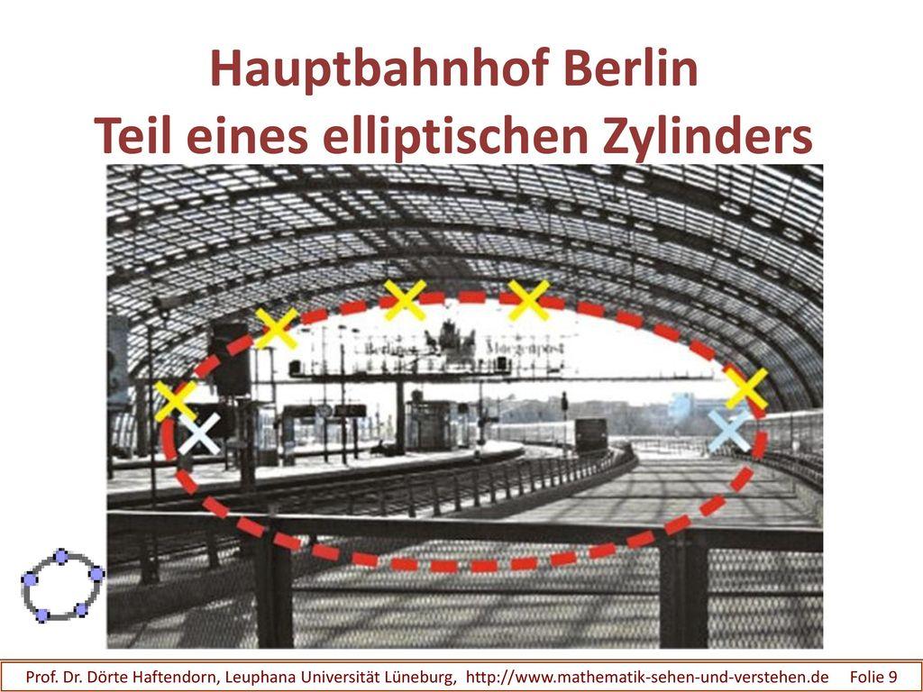 Hauptbahnhof Berlin Teil eines elliptischen Zylinders