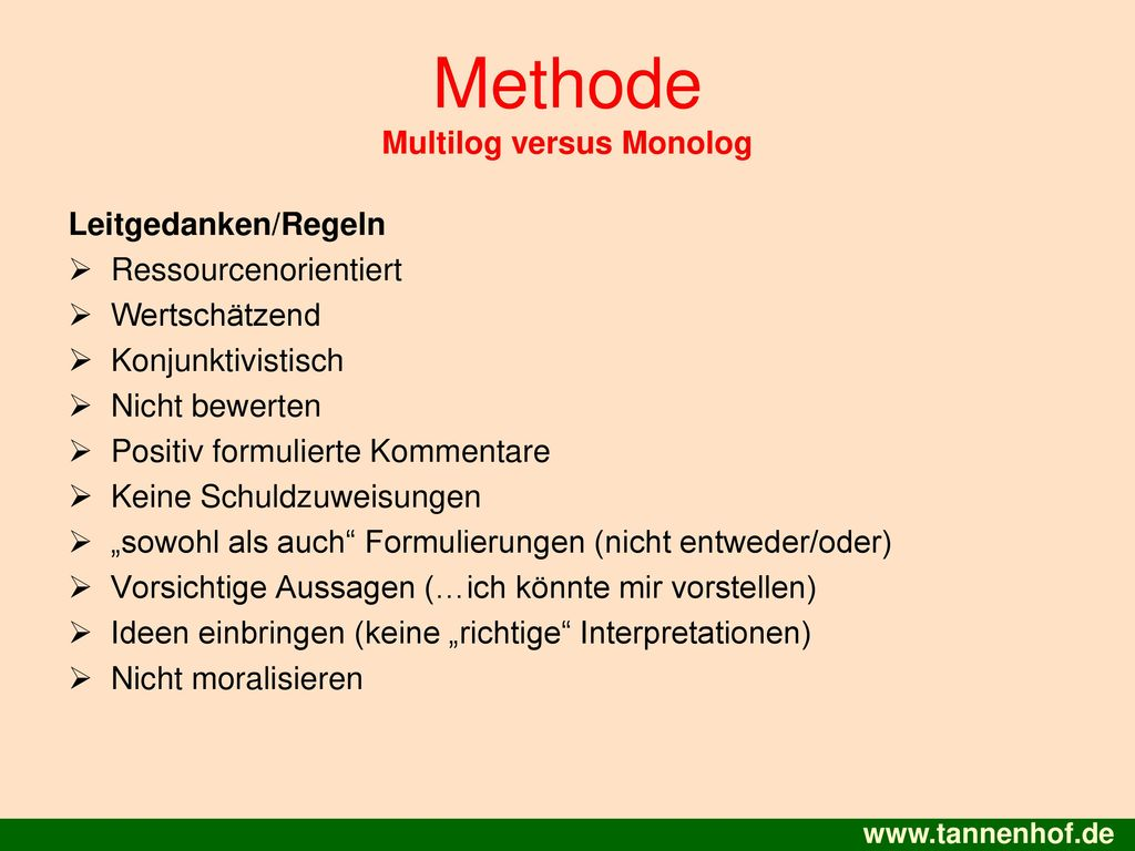 Methode Multilog versus Monolog