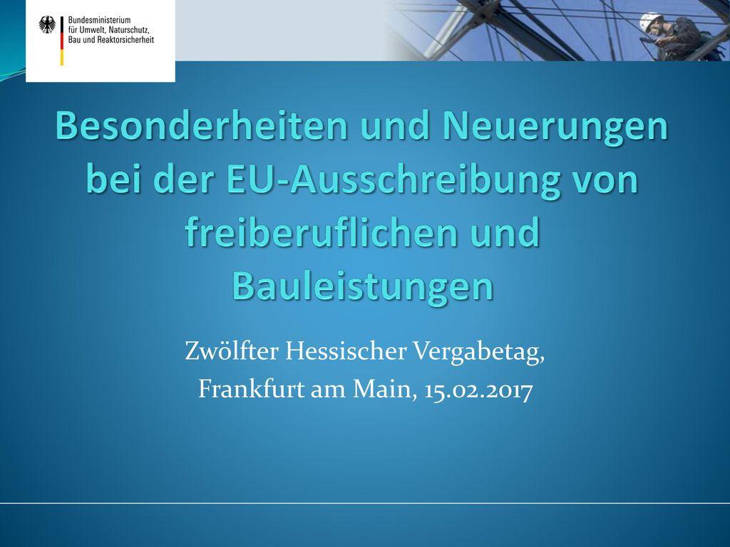 Zwölfter Hessischer Vergabetag, Frankfurt am Main, 15.02.2017