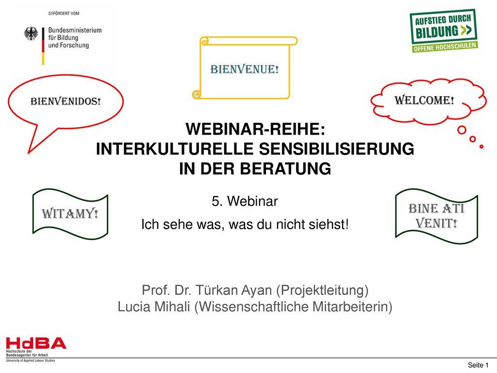 Webinar-Reihe: Interkulturelle Sensibilisierung in der Beratung