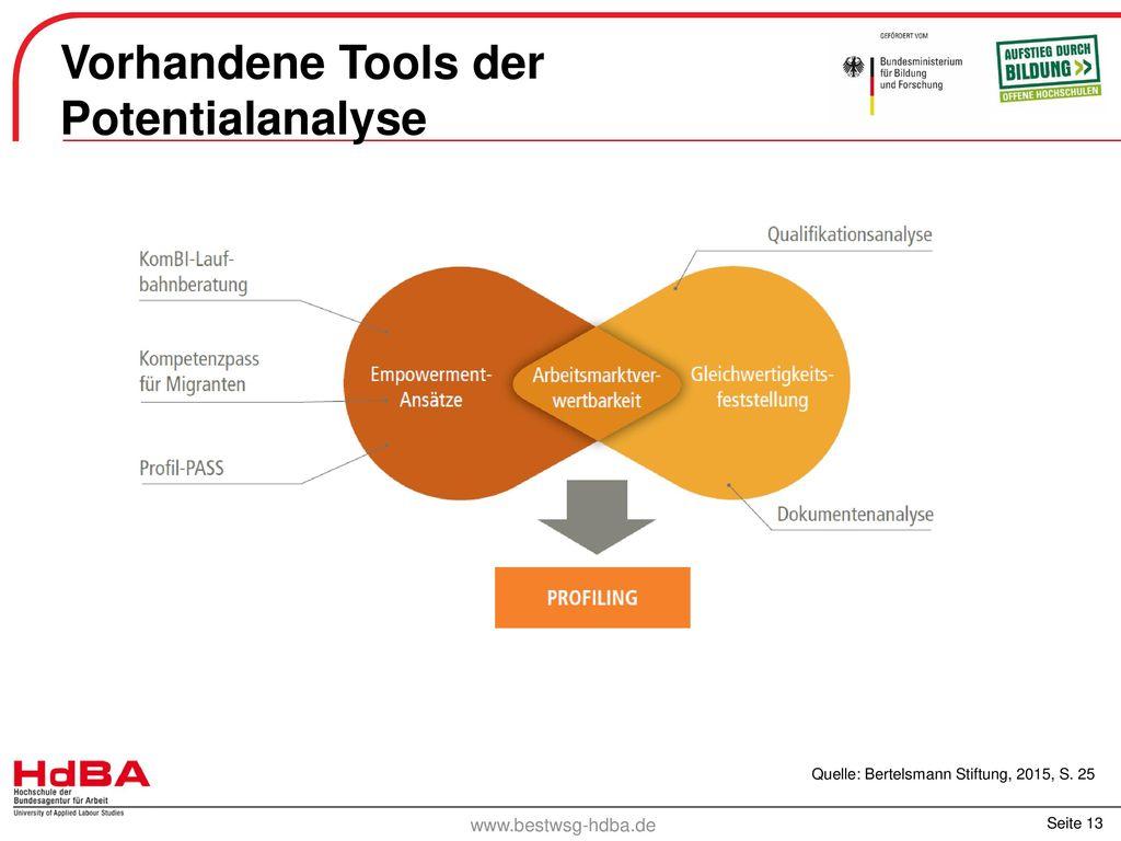 Vorhandene Tools der Potentialanalyse