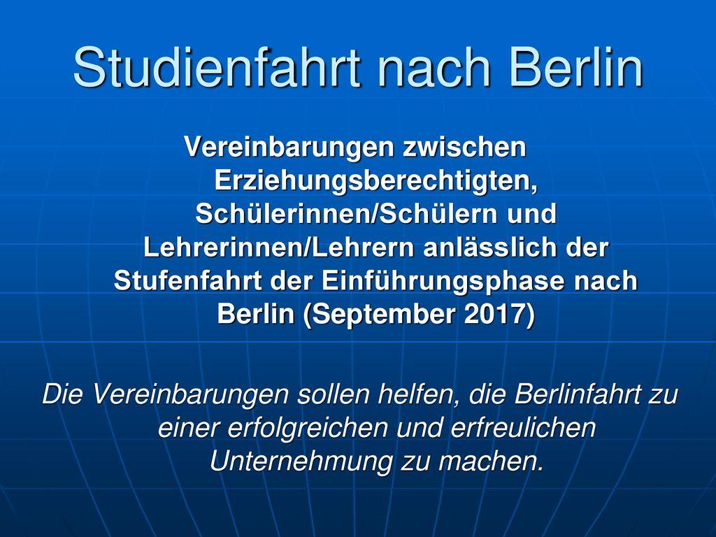 Studienfahrt nach Berlin