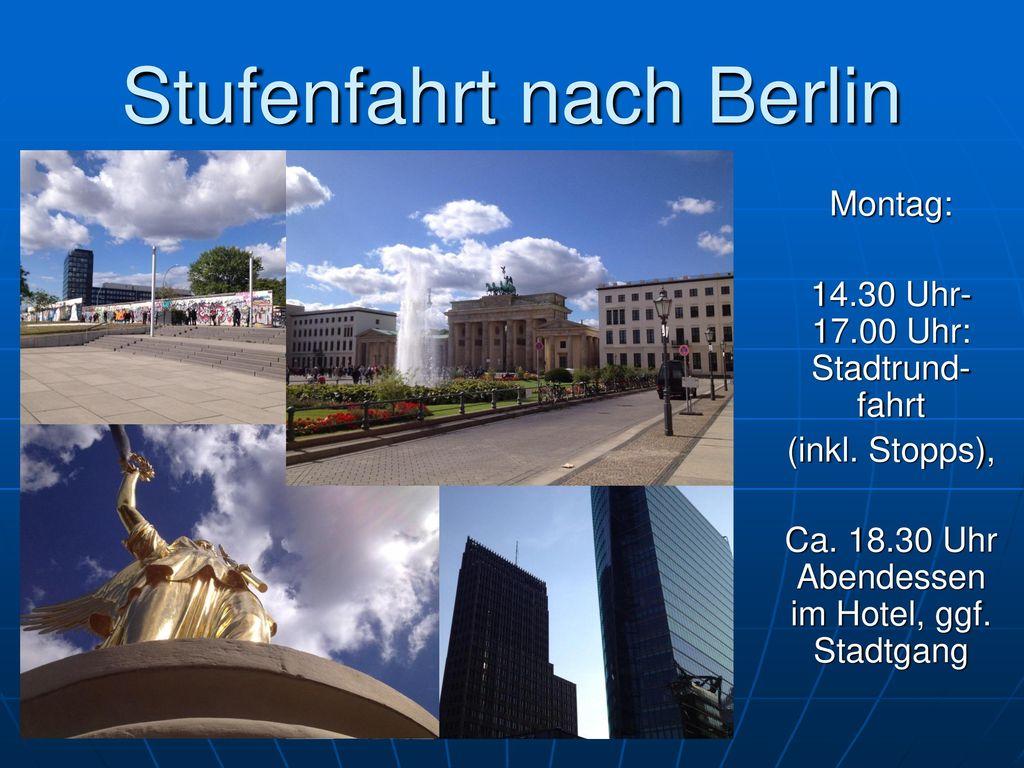 Stufenfahrt nach Berlin