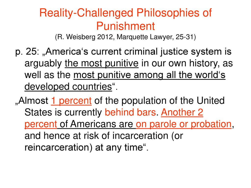 Reality-Challenged Philosophies of Punishment (R