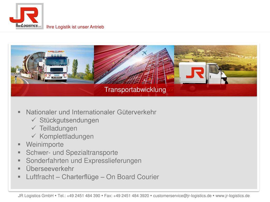 Nationaler und Internationaler Güterverkehr Stückgutsendungen