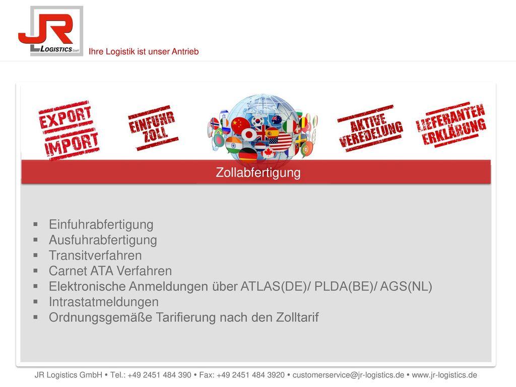 Elektronische Anmeldungen über ATLAS(DE)/ PLDA(BE)/ AGS(NL)