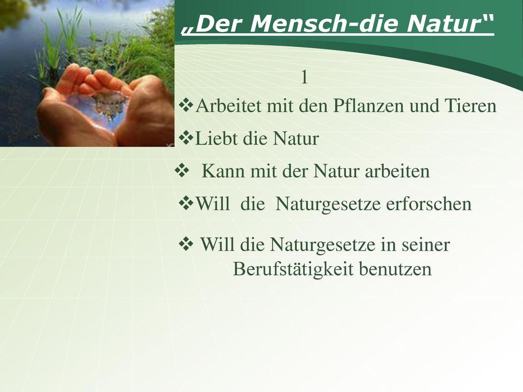 """""""Der Mensch-die Natur"""