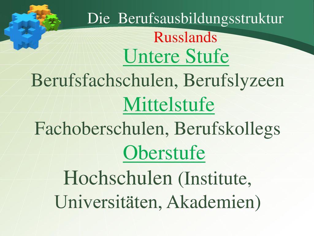 Hochschulen (Institute, Universitäten, Akademien)
