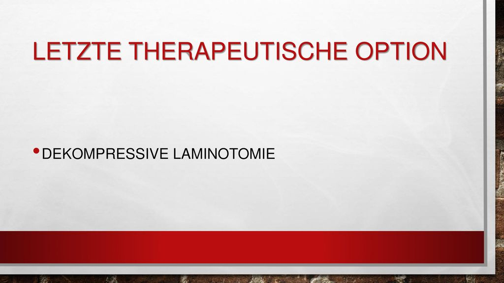 Letzte therapeutische option