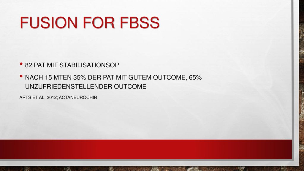 Fusion for FBSS 82 pat mit stabilisationsop