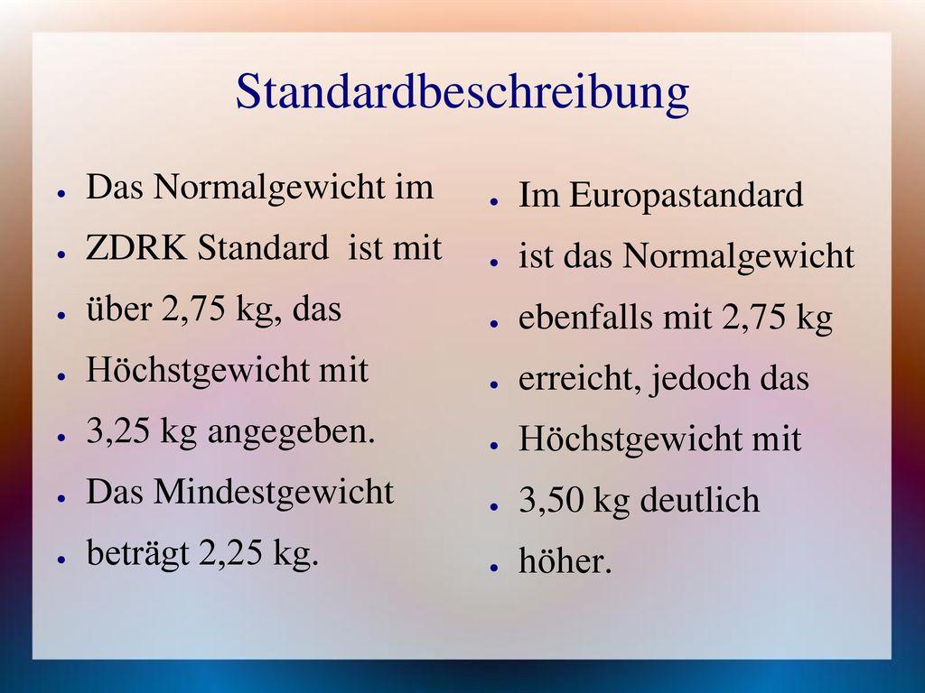 Standardbeschreibung