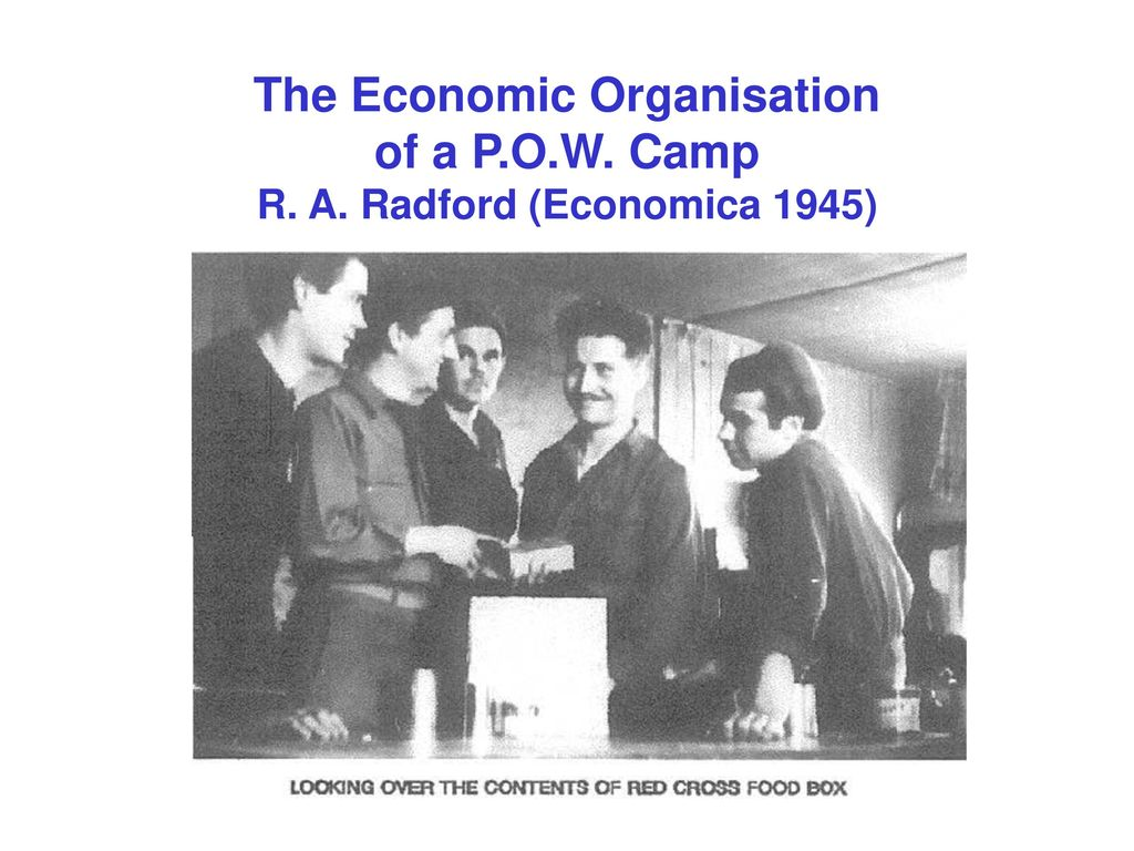 The Economic Organisation of a P. O. W. Camp R. A